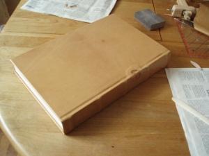 Vollständig bezogenes Buch - Rückseite.